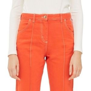 NWT TopShop High Rise Seam Front Crop Jeans - 6